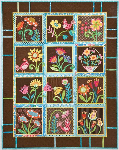 My Whimsical Quilt Garden by Piece O Cake Designs applique Pinterest Gardens, Design and ...