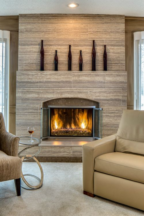 after fireplace living room by design connection inc kansas city interior design for all of the before after pics of this fireplace remod - Decorating Ideas For Living Rooms With Fireplaces