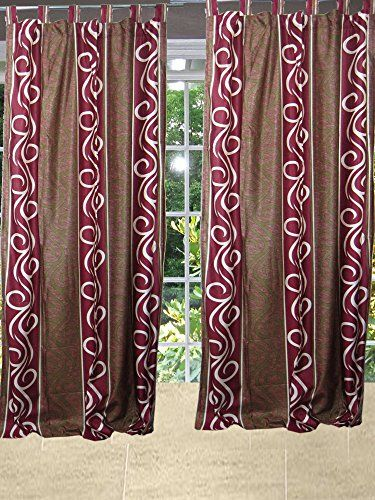 Mogulinterior 2 Indian Curtains Drapes Panels Window Treatments ...