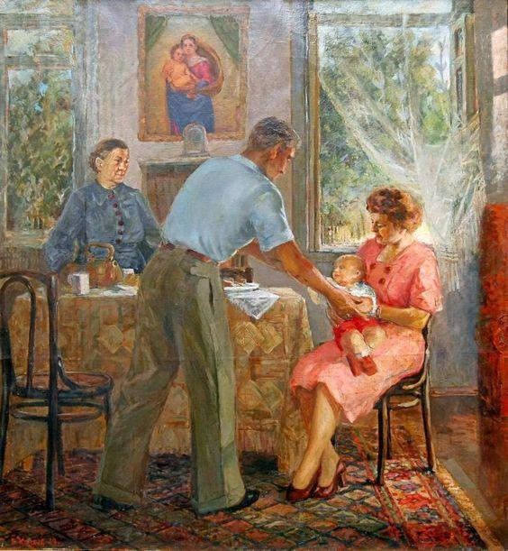 Козача В. :В кругу семьи  Год:1949: