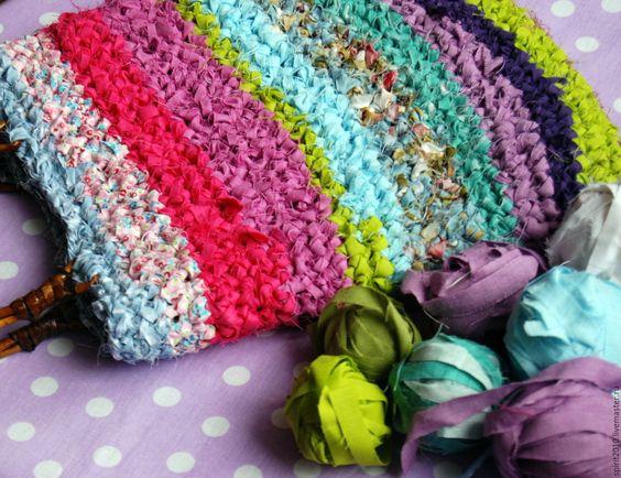 """Купить Сумка """"Фестиваль красок"""" - комбинированный, в полоску, сумка, сумка ручной работы, сумка женская:"""