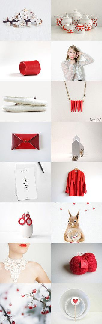 red white #etsytreasury by Barbara on #Etsy #gifts #valentine #love #winter #trends