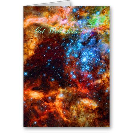 Get Well Soon - Stellar Group, Tarantula Nebula Cards