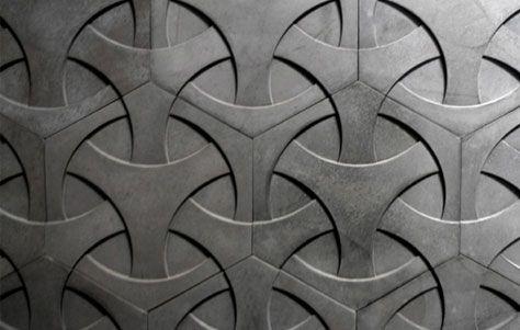 concrete tile by Daniel Ogassian: Modern Concrete, Tile Design, Concrete Wall, Concrete Tiles, Textures Patterns, Textures Surfaces Patterns, Japanese Weave, Wall Tile