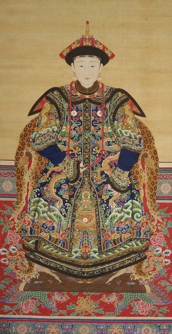 Portrait of a Manchu Noblewoman  probably 19th century