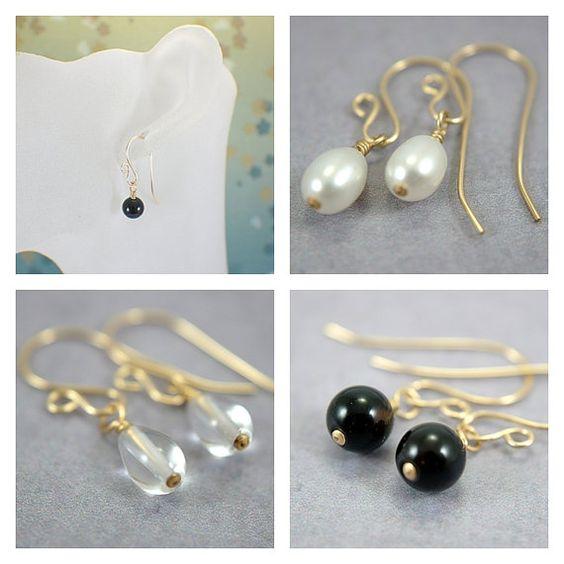 Interchangeable earring dangles 14k gold by SueRunyonDesigns, $22.00