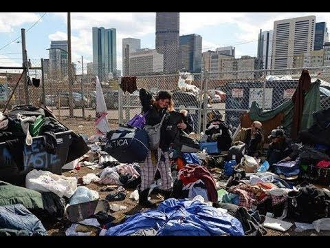 Denver Homeless Population Appears To Be Growing Utah Camping Downtown Denver Usa