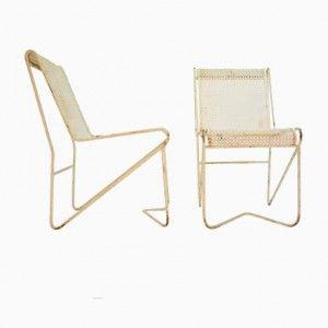 Tit Melil Garden Chairs by Mathieu Mategot, 1953, Set of 4
