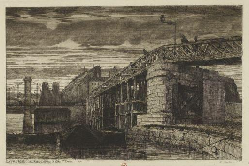 Estacade entre l'île Louviers et l'île St Louis 1840
