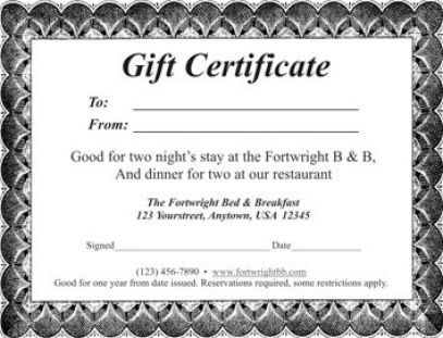 free templates date night gift certificate templates