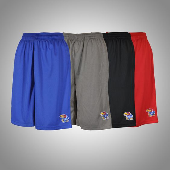Take a run in these #KansasUniversity Pocketed Shorts l Gameday Super Store