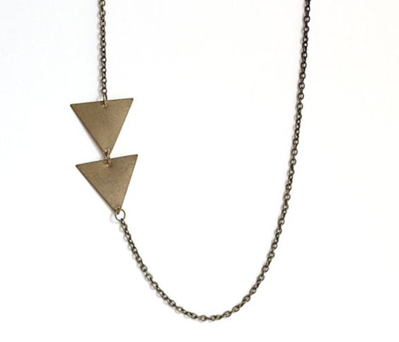 Asymmetrical Arrow Necklace by ofmatter @ Uncovet