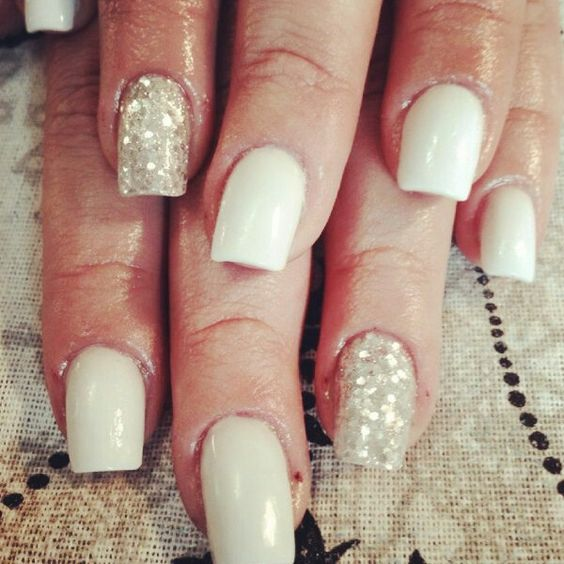 Loave my nails! White&Silver #Fouche Fouche