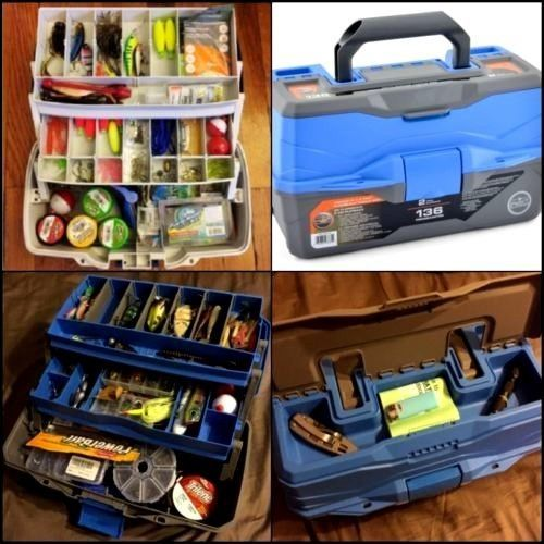 Fishing Organizer 2 Tray Fishing Tackle Box Fishing Accessories Fishing Tool