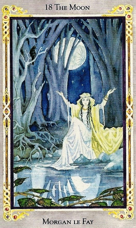 The Moon - The Arthurian Tarot