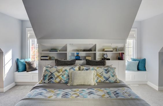 Unpatterned Blog: Master Suite Revealed - Bedroom AFTER | Custom Built-Ins and Window Seats