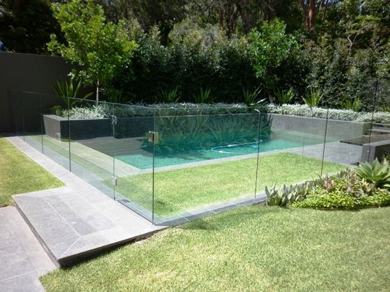 Glass Pool Fencing Perth A Swimming Pool Is The Dream Of Many Garden Owners Because It Serves The Relax Glass Pool Fencing Backyard Pool Pool Landscaping