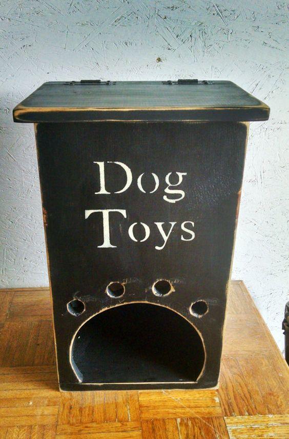 Primitive Self Feeding Dog Toy Box...Black by BlackSquirrelPrims