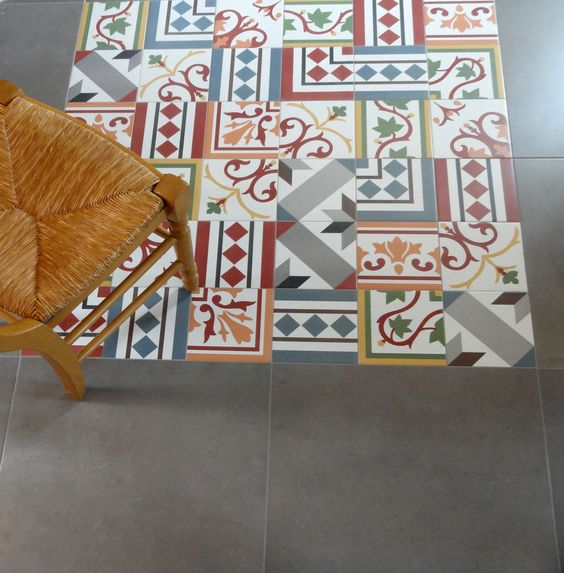 Patchwork ceramic tiles from neocim collection by kerion for Carrelage kerion