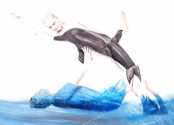 #body painting photography models #body art #dolphin ...PUSH and choose