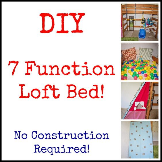 Diy Loft Bed Play Structure Life Lesson Plans Blog