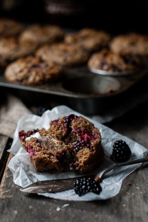 [blackberry sour cream bran muffins]