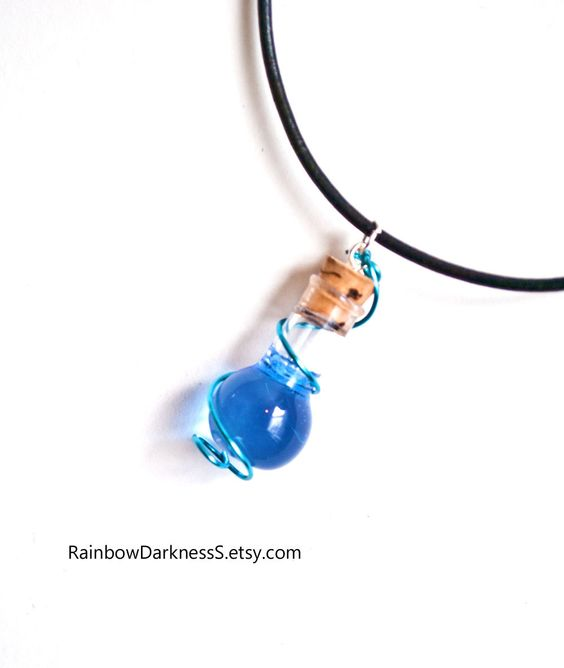 Wire Wrapped Mana Potion Vial Geeky Gamer by RainbowDarkness
