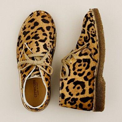 Girls' leopard desert boots