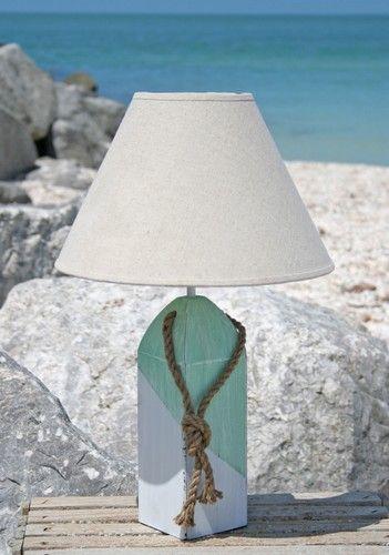 Beautiful Rustic Buoy Table Lamps.