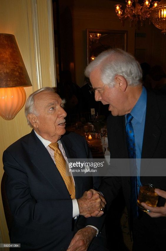 Walter Cronkite and Nick Clooney attend Walter Cronkite Hosts a Private…