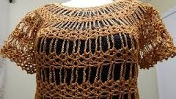 Resultado de imagem para pap blusa trapezio de croche