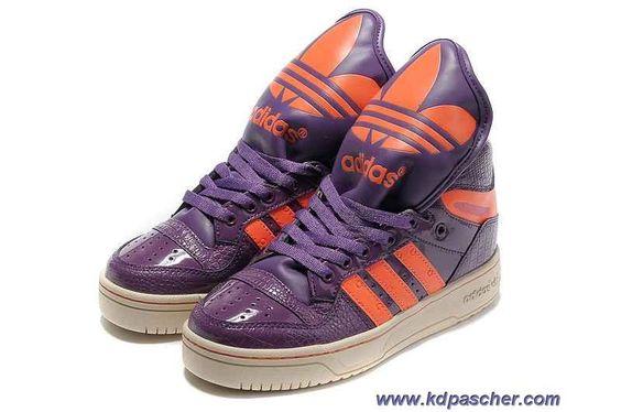 Chaud Adidas X Jeremy Scott Big Tongue Chaussures Pourpre