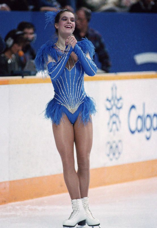 Katarina Witt at the Sarajevo 1984 Winter Olympics