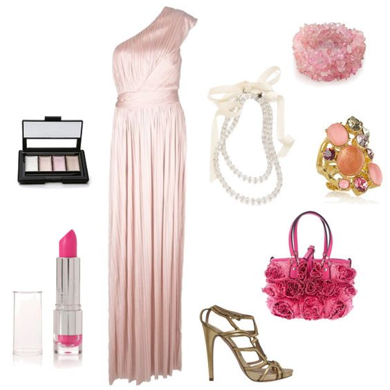 Ohh, pretty pinks in this group mission entry for the Spring Formal fashion mission #fashion #style #outfit #contest
