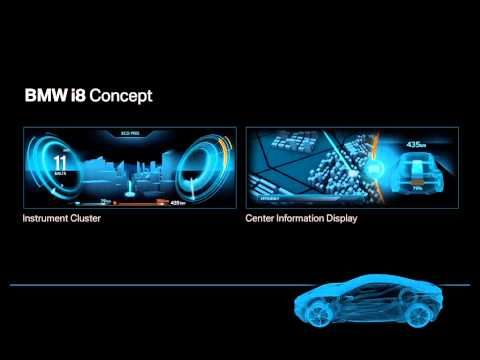BMW i8 Concept. Interface Design. - YouTube