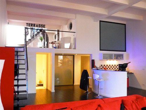 Studio Apartment With Mezzanine bedroom on mezzanine floor | modern | mezzanine | pinterest