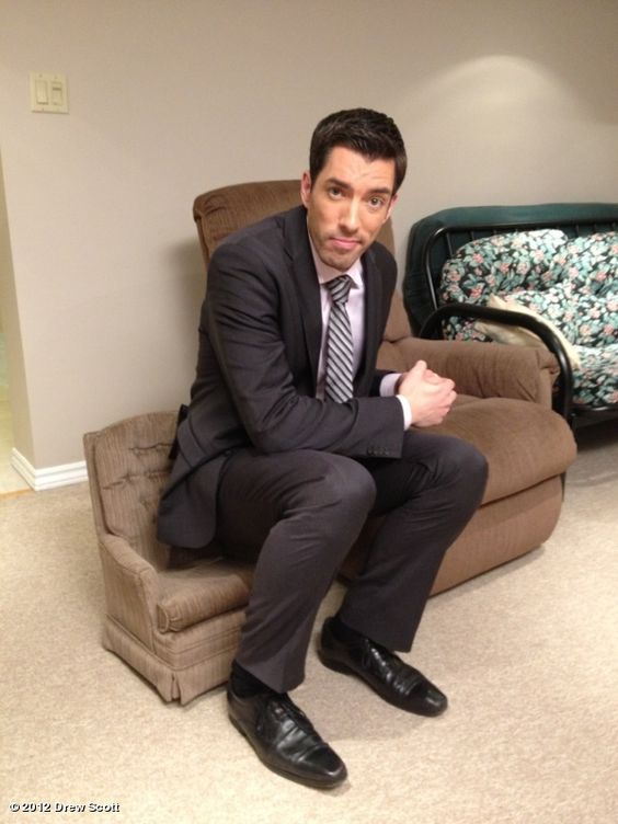 """Trying to convince myself that my son doesn't need a chair like this. (Was: """"I'm thinking I need a bigger chair!""""): Property Brothers, Eye Candy, Hgtv Brother, Scott Brothers, My Son, Bigger Chair, Brothers Sigh, Brother Vs, Chair Hgtv"""