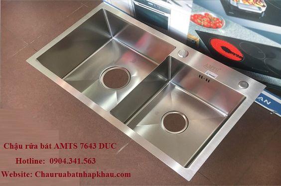 Chậu rửa bát AMTS 7643 DUC sự lựa chọn hoàn hảo cho mọi gian bếp