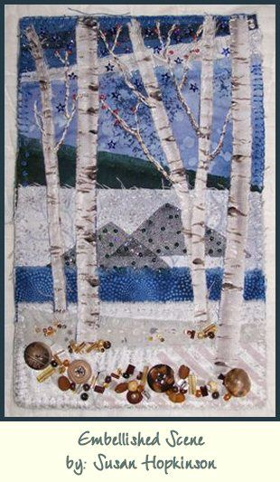 Wonderful Embellished Winter Scene.