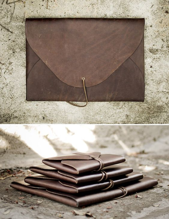 Field Theories Leather Portfolio Cases