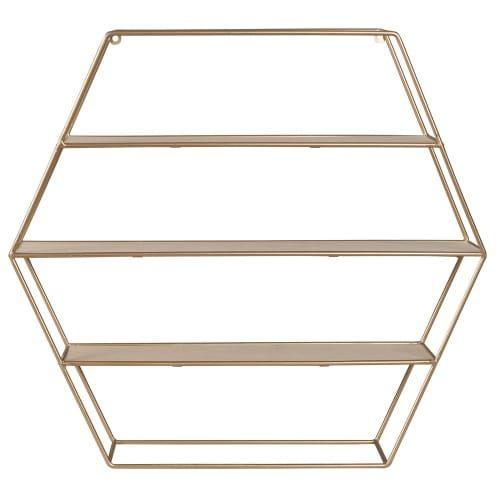 Copper Metal Hexagonal Wall Shelf Maisons Du Monde Wall Shelves Sideboard Furniture Shelves