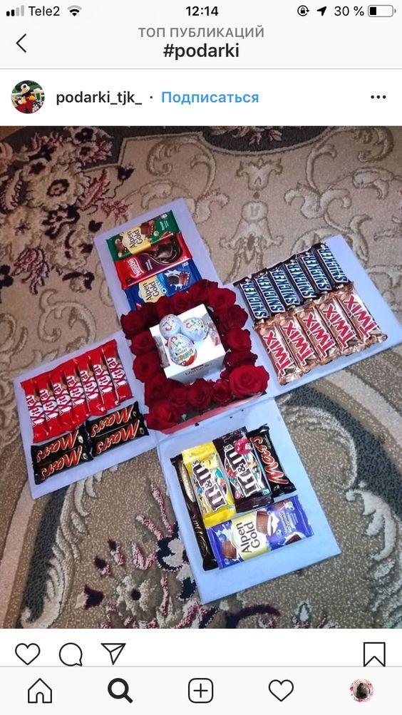 Diy Candy Gift Boxes For Birthday Presents For Boys Podarochnye