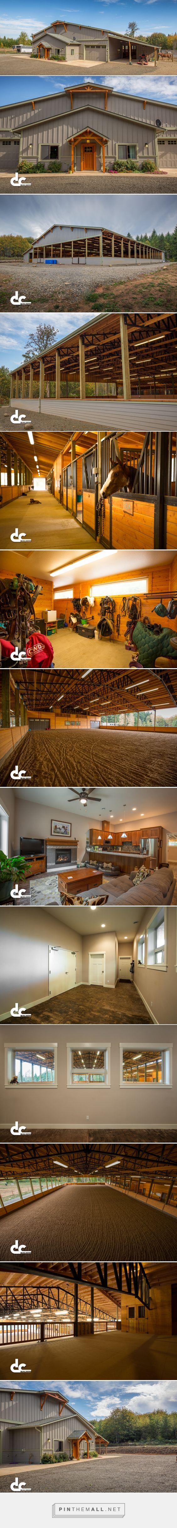 Covered Riding Arena With Apartment In Oregon City, OR - DC Builders - created via https://pinthemall.net