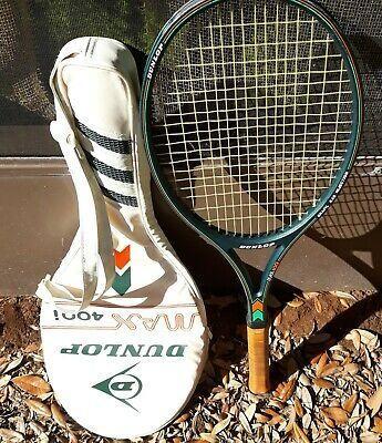 Vtg Dunlop Max 400i Leather Grip Tennis Racquet Racket 4 5 8 In 2020 Tennis Racquet Tennis Racquets