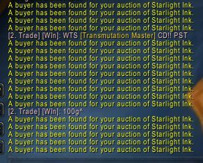 Time for Darkmoon Faire is running out. Starlight Ink is flying off the shelves.