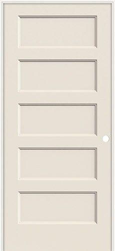 6 39 8 Modern 5 Panel Flat Molded Interior Prehung Door Unit