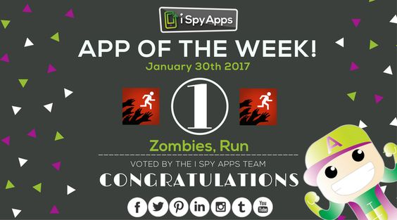 Congratulations, @ZombiesRunGame, for being nominated #APP OF THE WEEK by #iSpyApps! Download it and run for your l̶i̶f̶e̶  health! Again!