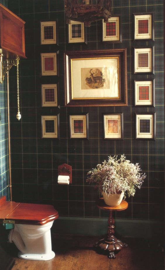 Denton & Gardner plaid graphs on plaid wallpaper: