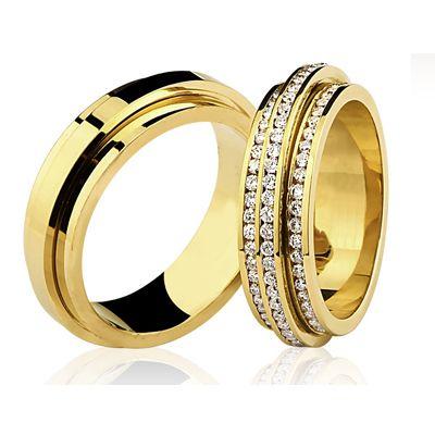Par de alianças puro luxo de diamantes.. show!
