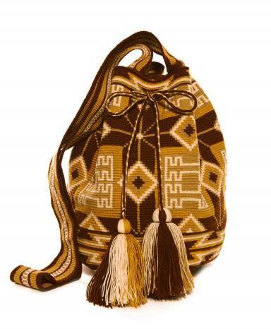 Miss Mochila Brown Cartagena Mochila Tassel Bag: